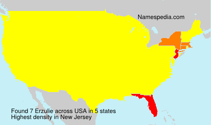 Surname Erzulie in USA