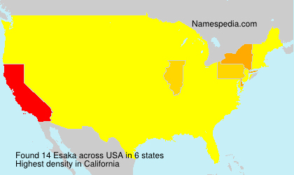 Surname Esaka in USA