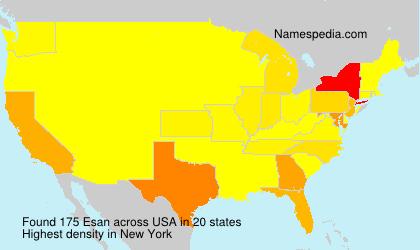 Surname Esan in USA