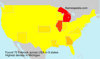 Surname Esbrook in USA