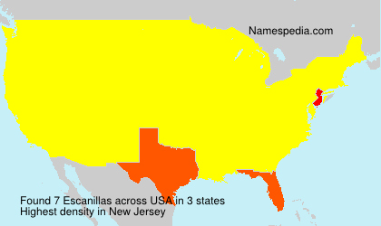 Surname Escanillas in USA