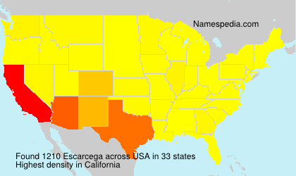 Surname Escarcega in USA