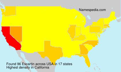 Familiennamen Escartin - USA