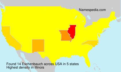 Familiennamen Eschenbauch - USA