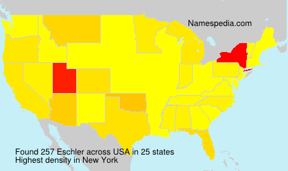 Surname Eschler in USA
