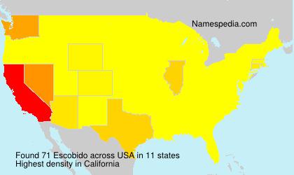 Surname Escobido in USA