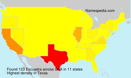 Familiennamen Escuadra - USA