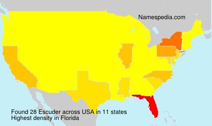 Familiennamen Escuder - USA