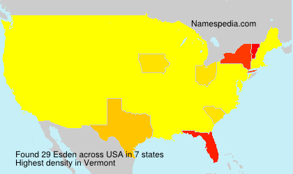 Familiennamen Esden - USA