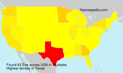 Surname Ese in USA