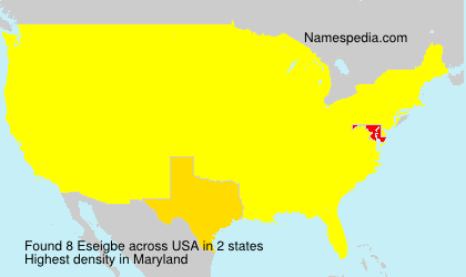 Surname Eseigbe in USA