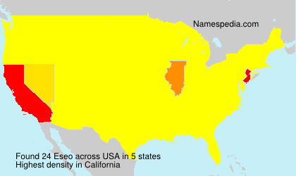 Surname Eseo in USA