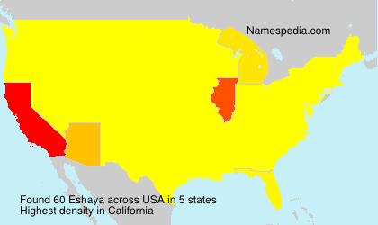 Familiennamen Eshaya - USA