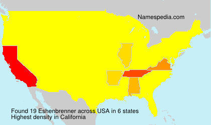 Familiennamen Eshenbrenner - USA