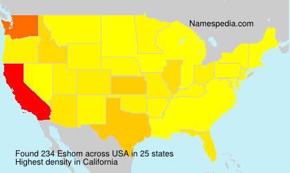 Surname Eshom in USA