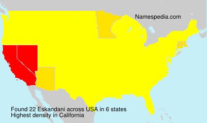 Surname Eskandani in USA