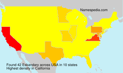 Surname Eskandary in USA