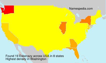 Surname Eskenazy in USA