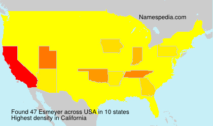 Surname Esmeyer in USA