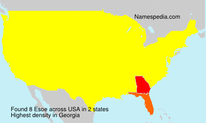 Surname Esoe in USA