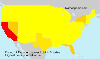 Surname Espadero in USA
