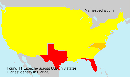 Surname Espeche in USA