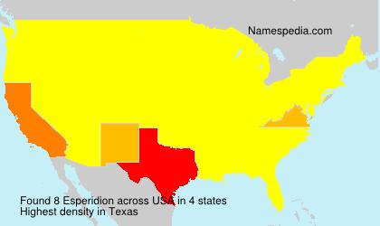 Esperidion - USA
