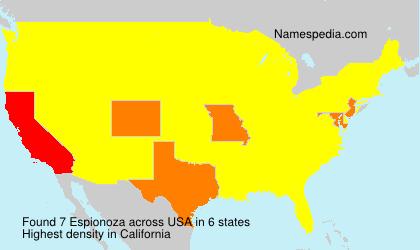Familiennamen Espionoza - USA