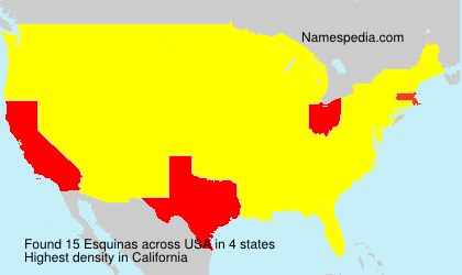 Surname Esquinas in USA