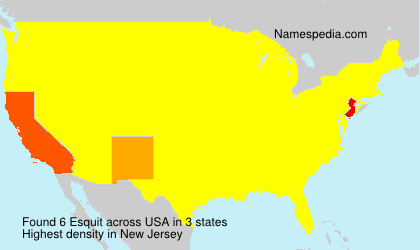 Surname Esquit in USA