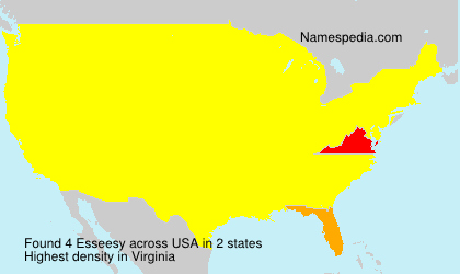 Surname Esseesy in USA