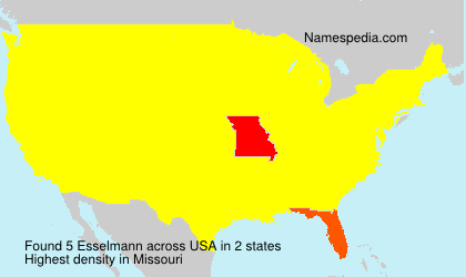 Familiennamen Esselmann - USA