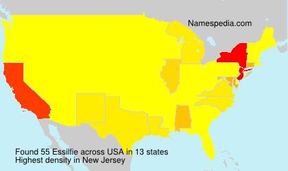 Familiennamen Essilfie - USA