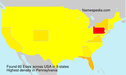 Surname Essis in USA
