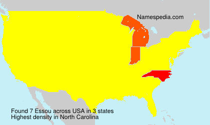 Surname Essou in USA