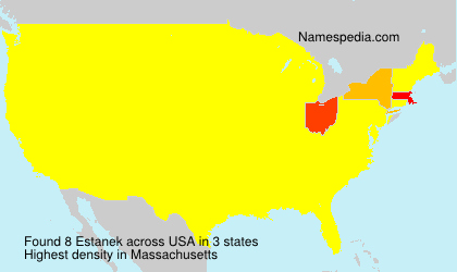 Surname Estanek in USA