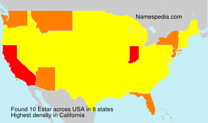 Surname Estar in USA