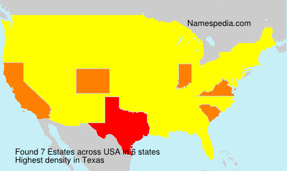 Surname Estates in USA