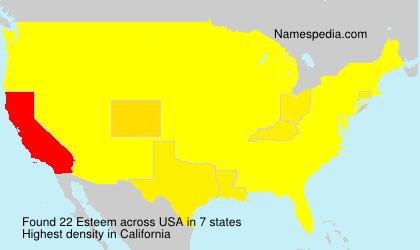 Familiennamen Esteem - USA