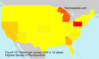 Surname Estermyer in USA