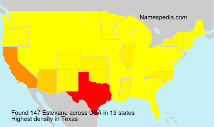 Surname Estevane in USA