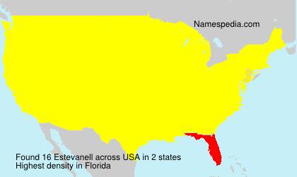 Surname Estevanell in USA