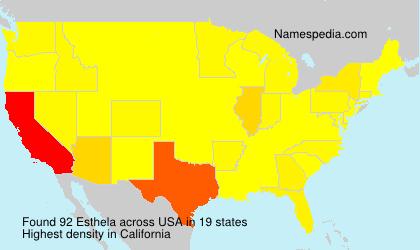 Familiennamen Esthela - USA