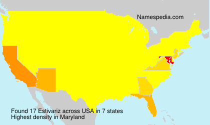 Surname Estivariz in USA