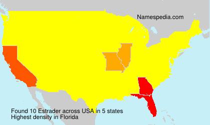 Familiennamen Estrader - USA