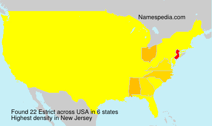 Surname Estrict in USA