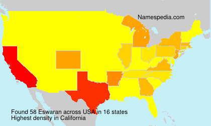 Surname Eswaran in USA