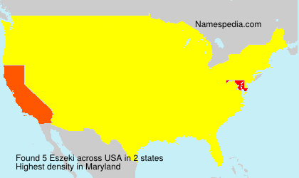 Surname Eszeki in USA