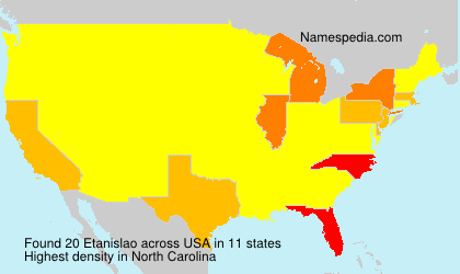 Surname Etanislao in USA