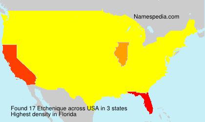 Surname Etchenique in USA